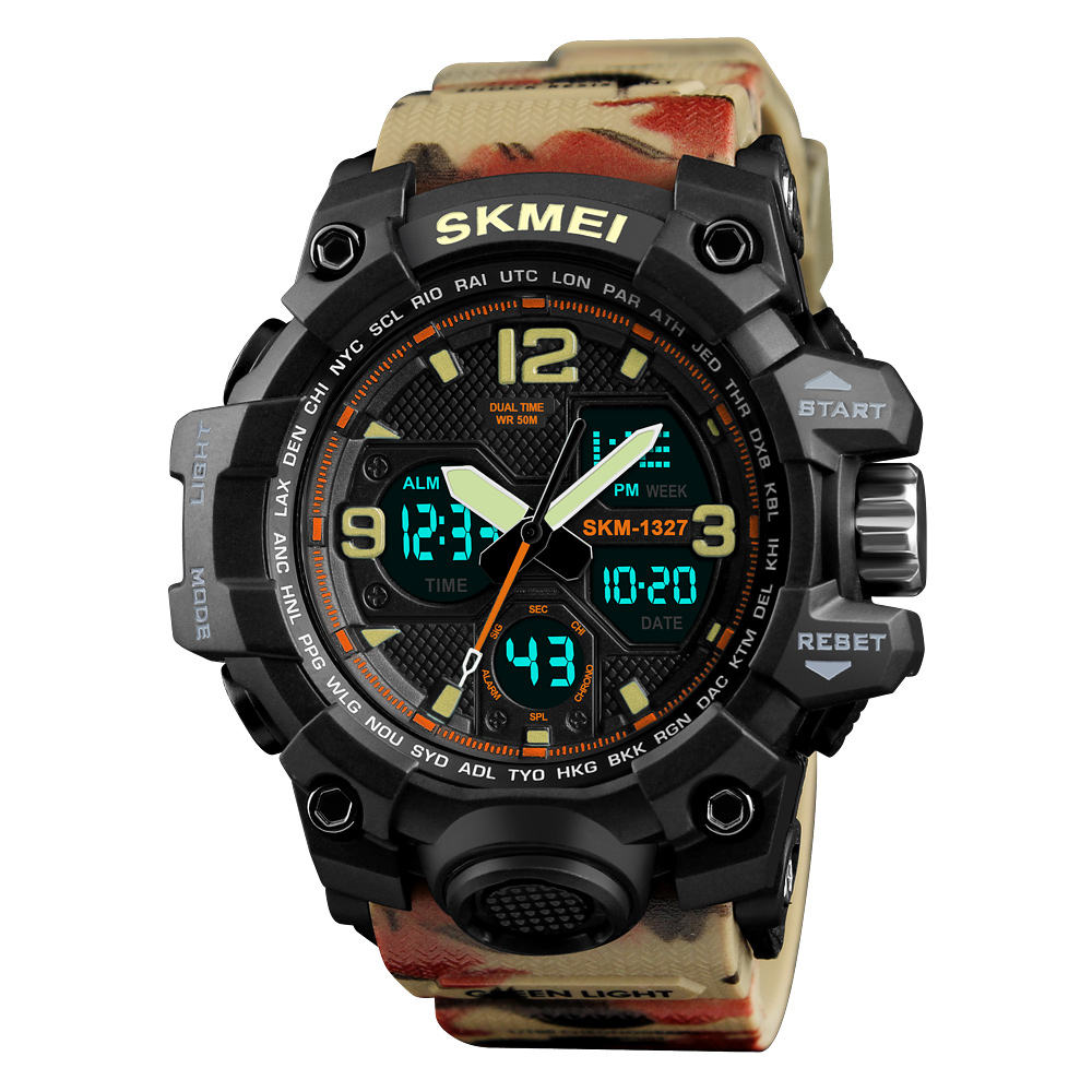 Fashion 2018 SKMEI 1327 Military Digital Sports Wrist Watch For Man Women Montre Femme