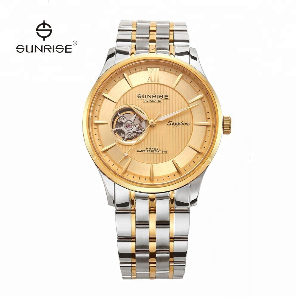 1 Potongan Logo Watch Stainless Steel Private Label Pria Branded Watch 3 ATM Tahan Air Stainless Steel kasus