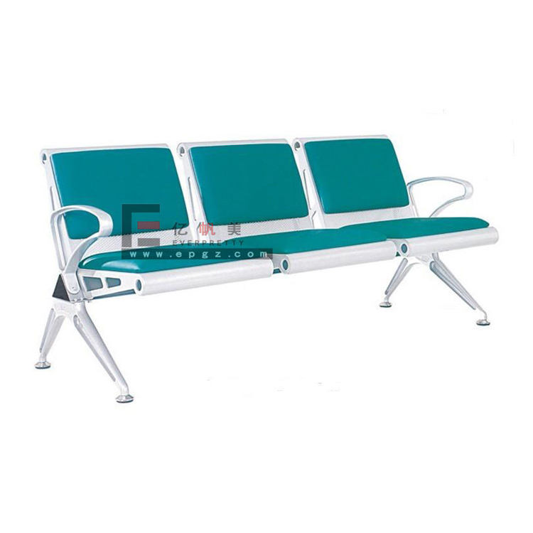 High Quality Stainless Steel 3 Seats Waiting Chair Airport Waiting Chair Hospital Waiting Chair