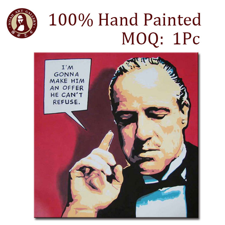 Packaging Customization [ Art Pop ] Painting Art Wall Art Pop Art Oil Painting People On Linen Canvas