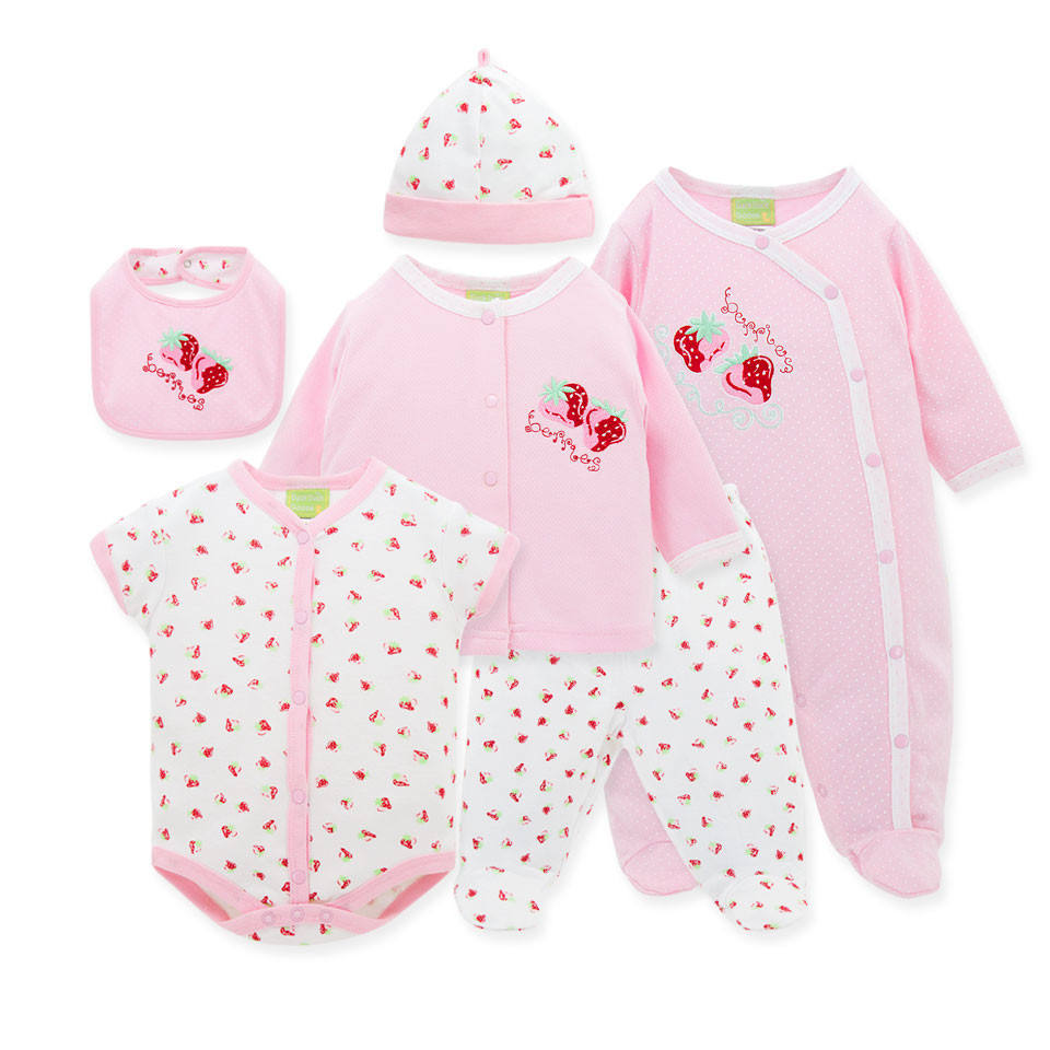 Wholesale High Quality Spring Autumn 6pcs/Set Newborn Infant Baby Boy Girl Suits Baby Clothing Set