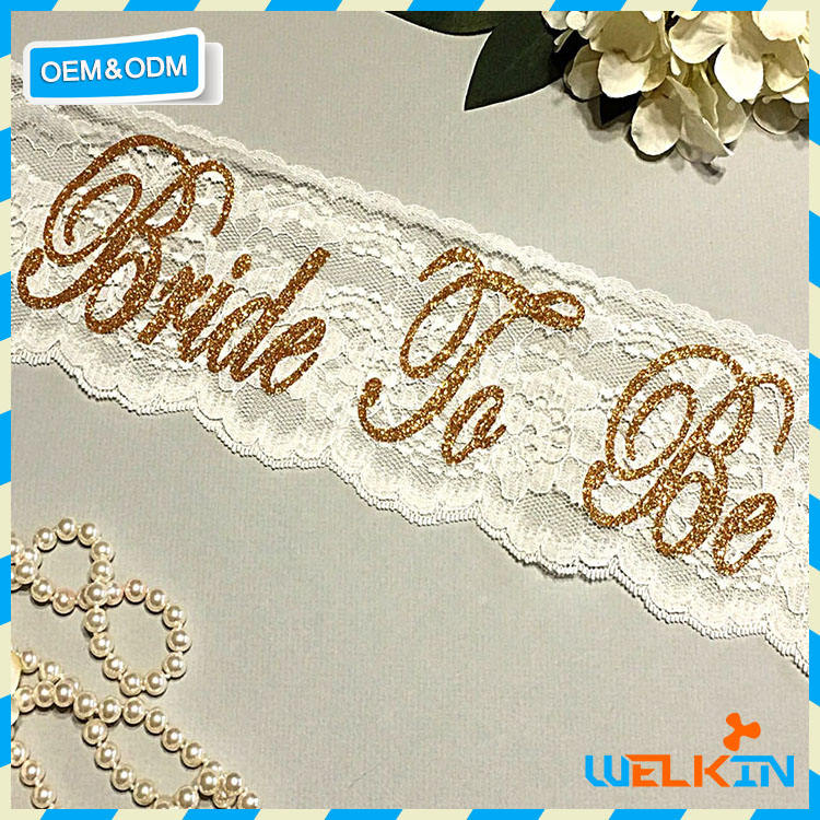 Bachelorette party supplies bride to be sash lace with embrodiery