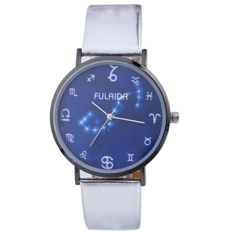 Novelty creative leisure fancy charming watch PU leather decoration led watch Women Watch