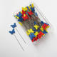 54mm Plastic Butterfly Head Metal Sewing Straight Pins for Needlework