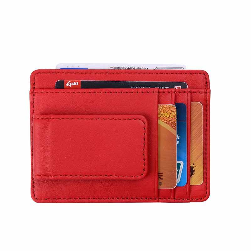 Brand Genuine Leather ID Card Holder High Quality RFID Wallet 3 Color Money Case Male Women Credit Card Covers Clip