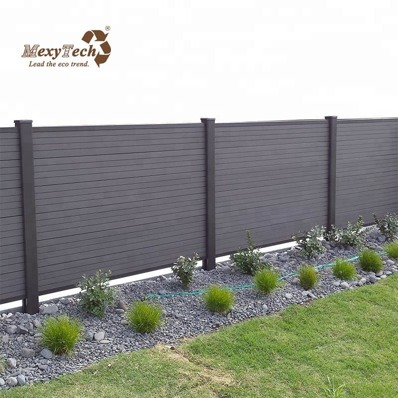 popular and cheap plastic timber composite wpc fence