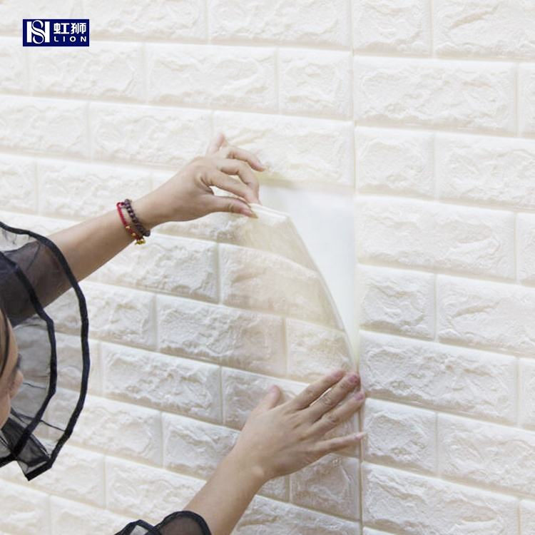 Custom Home Decoration Bedroom Self Adhesive Vinyl Brick Wallpaper 3D