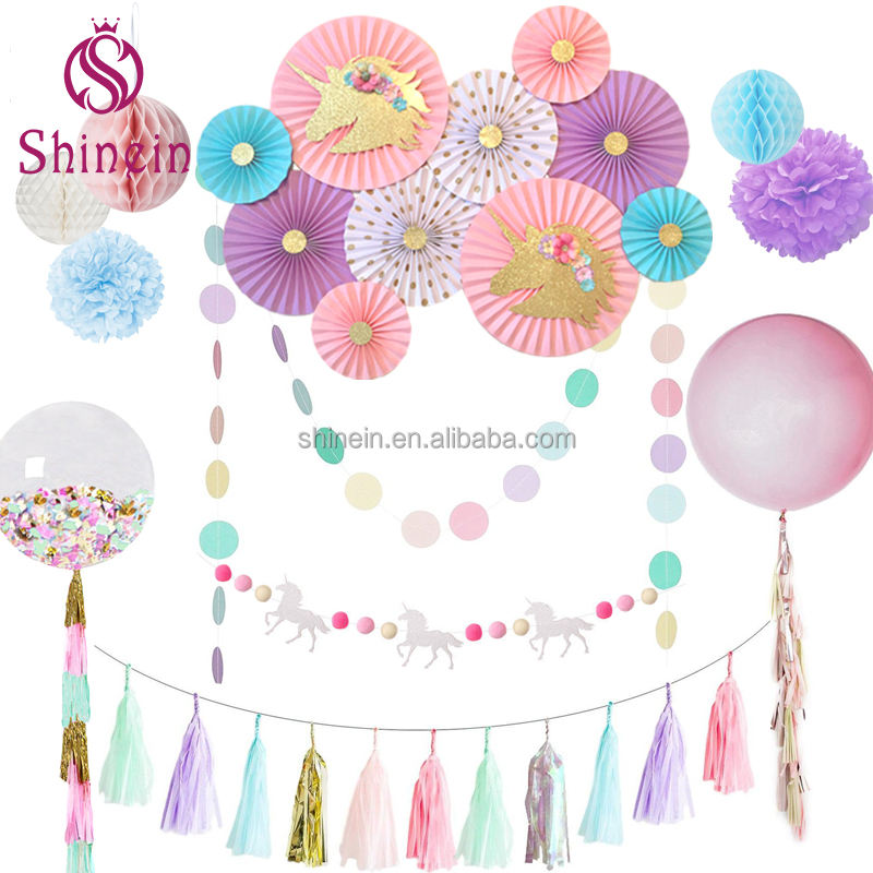 Top selling custom halloween christmas decoration flamingo unicorn birthday party supplies wedding decorations party accessories