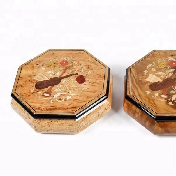 Beautiful noble music boxes wood souvenir