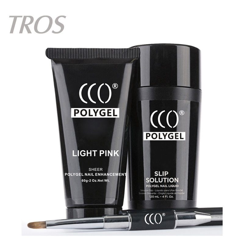 Nueva llegada diseña al por mayor 6 colores polygel led UV soak off acrílico poli kit gel