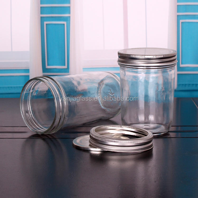 200ml 350ml wide mouth glass mason jar for jam canning food storage