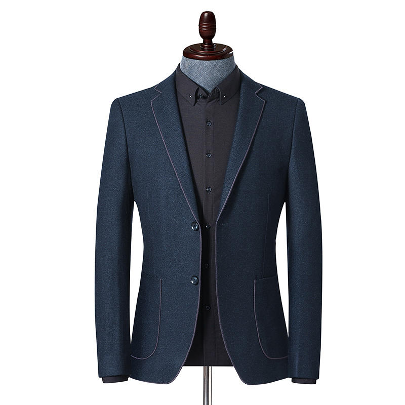 Custom Fashion Leisure Tuxedo Men Suit with lapel piped