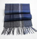 Winter Warm Fashion Blue Plaid Inner Mongolia 100% Wool Scarf Men And Women Wild