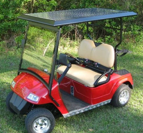 Solar power golf auto