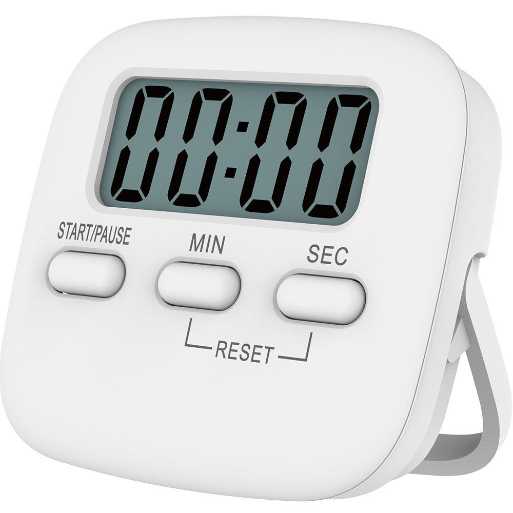 J & R Dapur Count Up Down Putih Oval Kecil Electric Digital Multi Timer