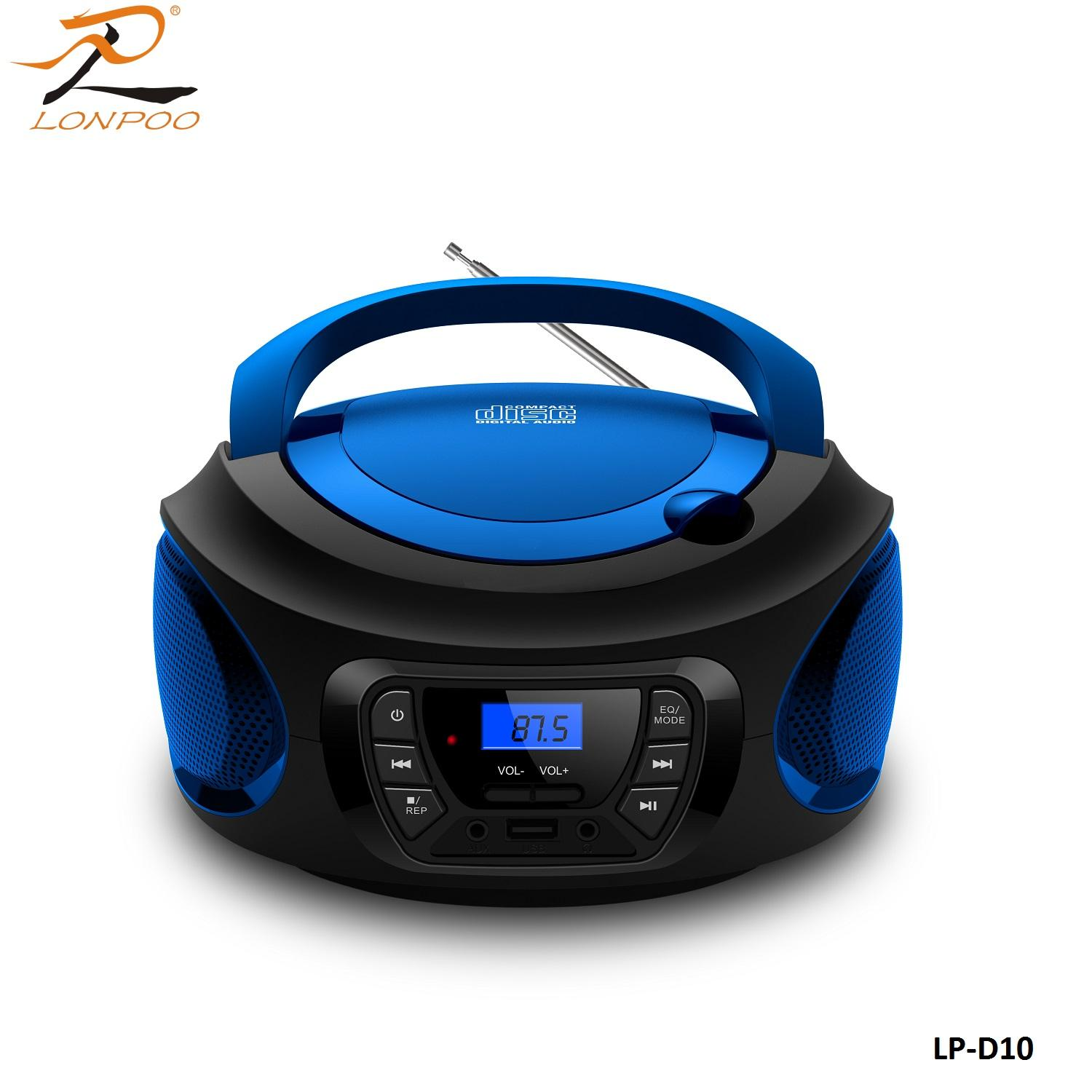 Mini Portable Blue tooth Speaker Outdoor CD boombox stereo player with USB MP3 FM AUX