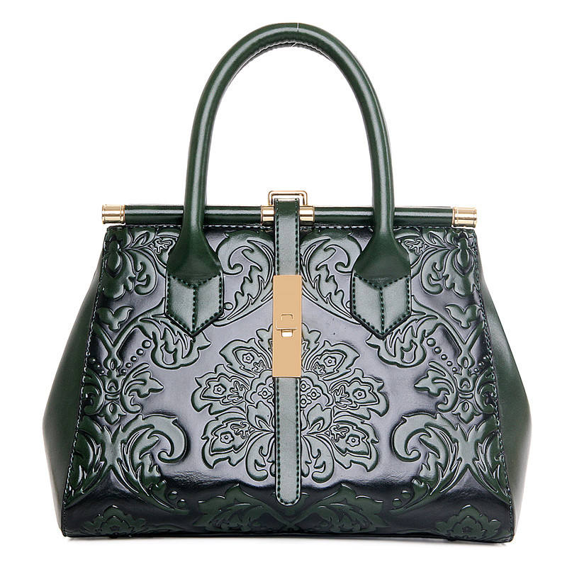 Angedanlia new Chinese style embossed leather crossbody single shoulder bag women handbags