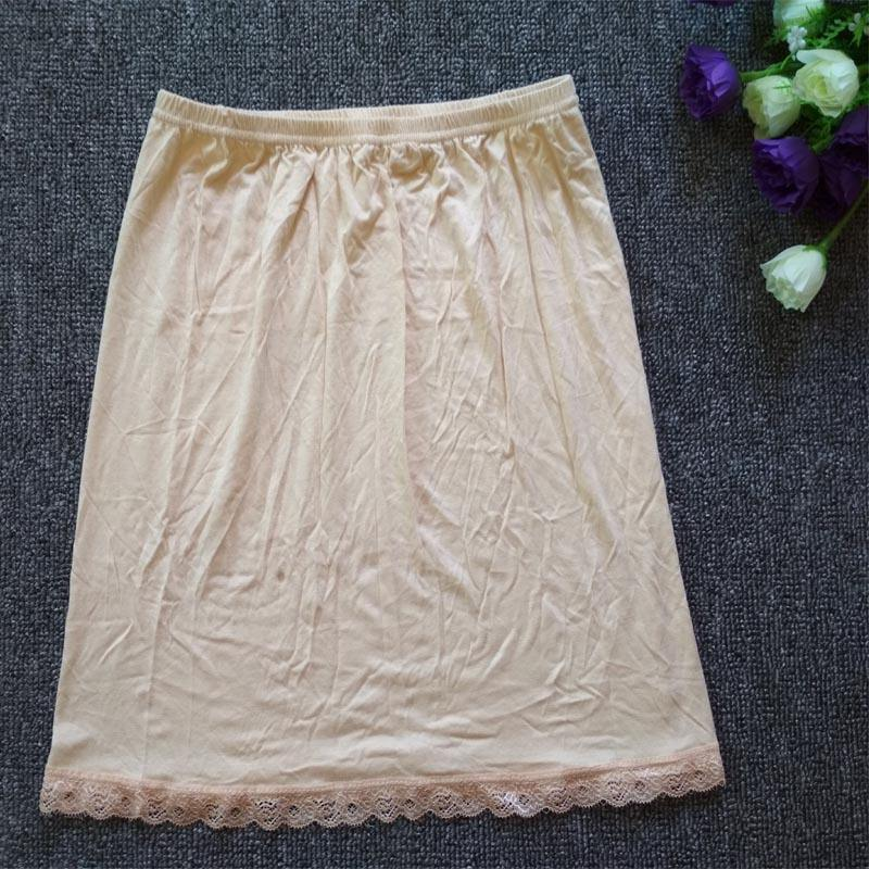 Short skirts for ladies in summer 2019 modal cotton anti-penetration and anti-smoothing liner, bottom skirt half-length skirt