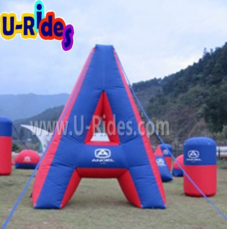 Inflatable paintball bunker ชุด/inflatable laser tag arena เด็ก