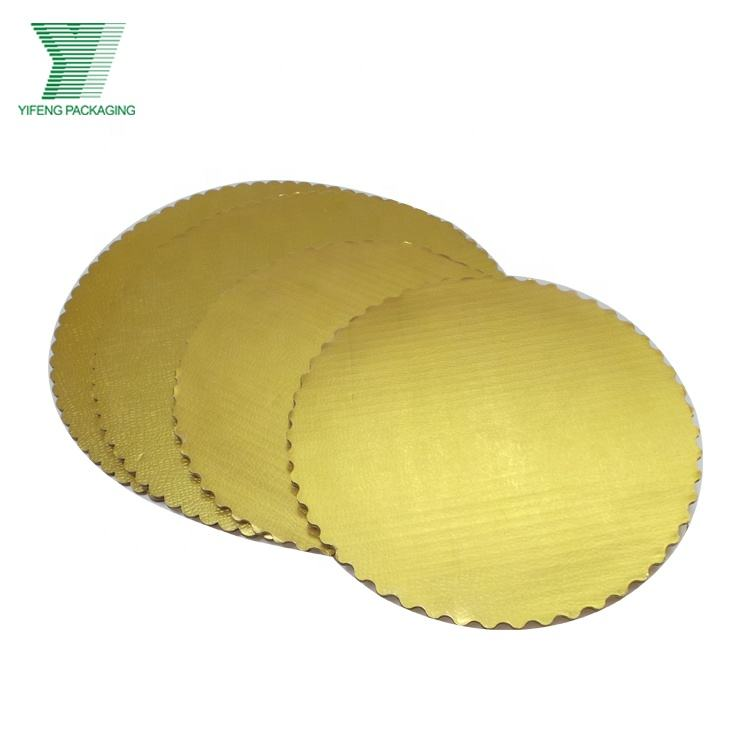 Paper golden cake round boards,wedding cake base, gold cake paper tray