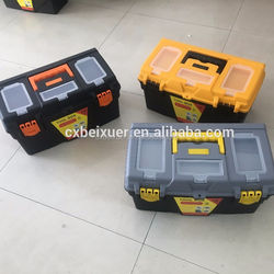 High quality plastic tool box Plastic storage box comes with a removable tray A18
