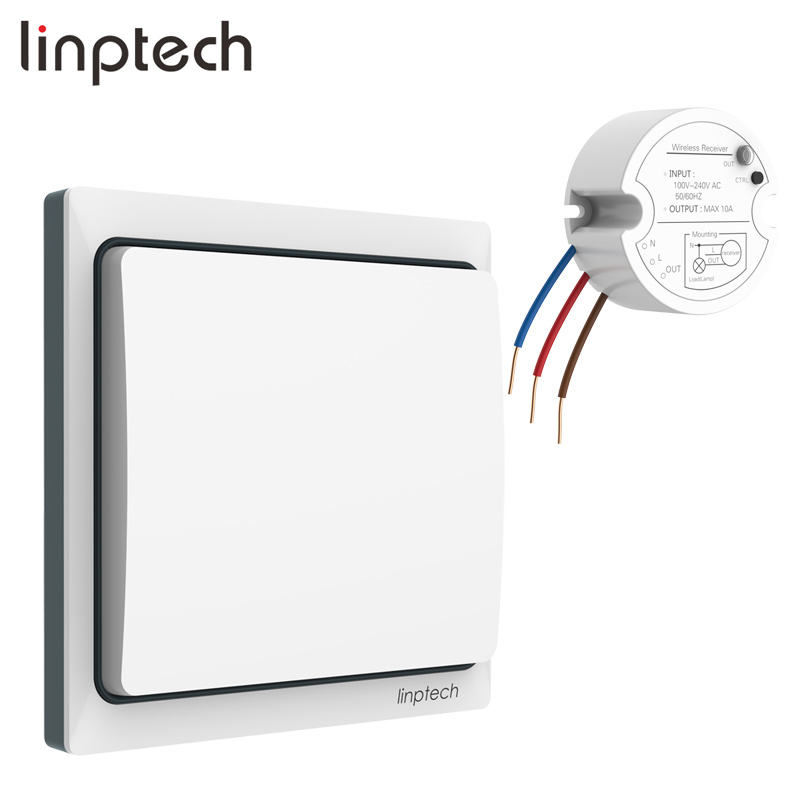 Linptech K4RW1 Kit smart home light intelligent remote switch 1000w wireless control power switch 120v/220v/240v