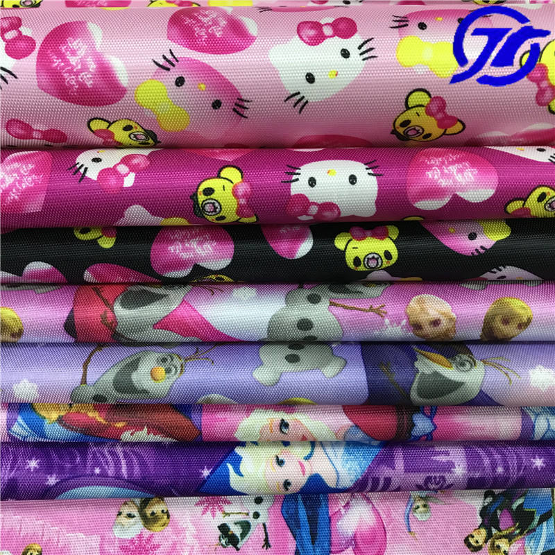 Changzhou Jietai Textile Hot Sale Cartoon Printed Oxford Fabric With Pvc Pu coated Eco-friendly For Kids