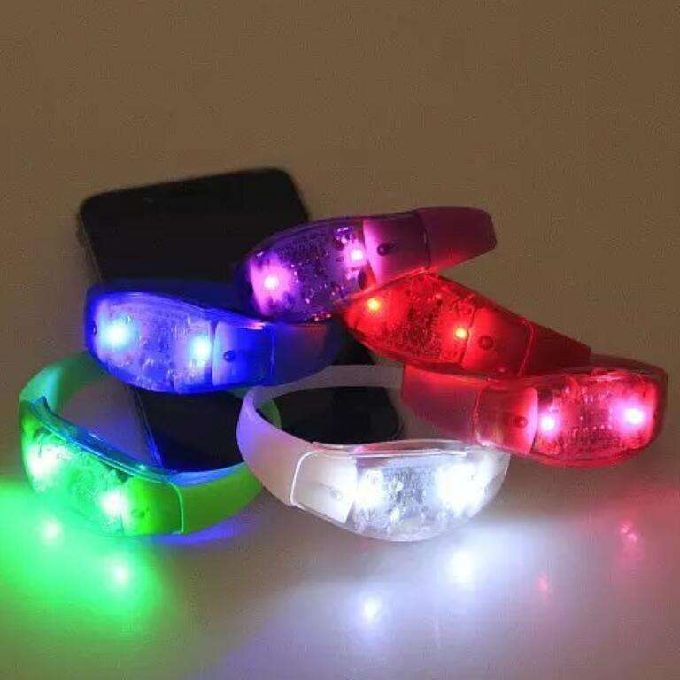 Music concert favor colorful light remote controlled led bracelet