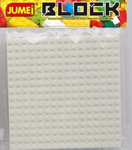 abs plastic square building block mat base plate