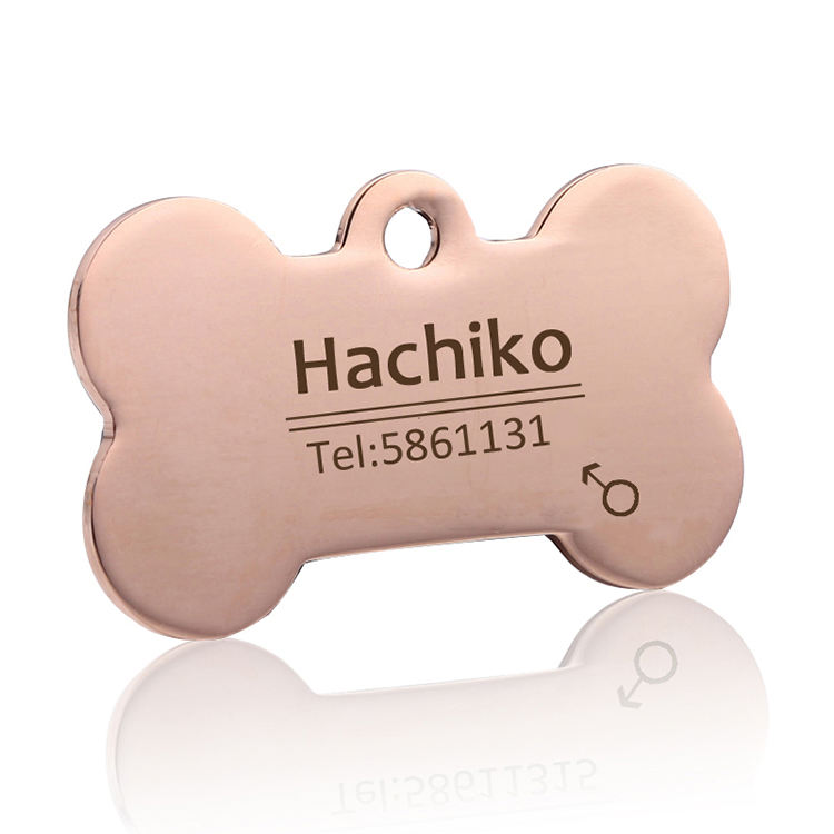 싼 Stainless Steel 빈 키 빈 뼈 Shaped 개 Tag Custom logo Pet ID hl 태그와
