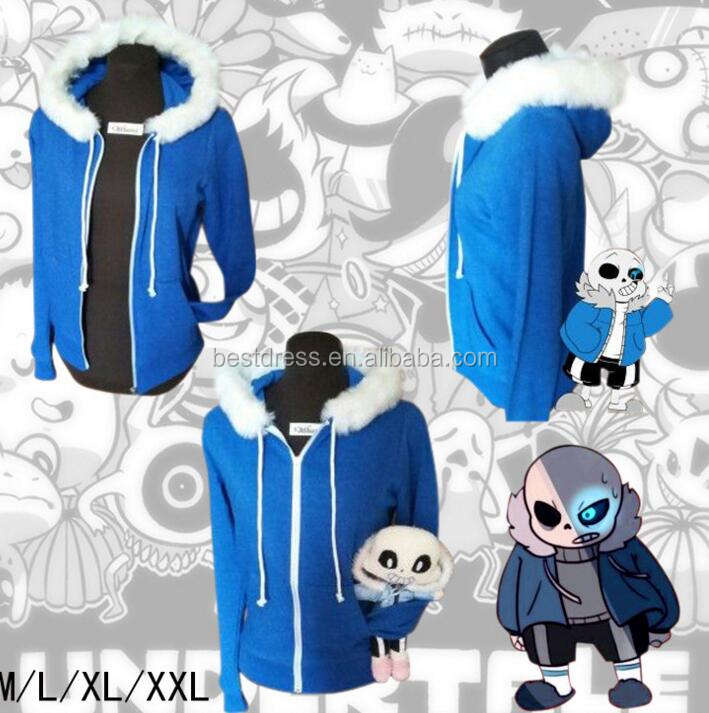 walson Undertale Sans Papyrus Hoodie Sweatshirt Winter Warm Zipper Cosplay Costume Hot