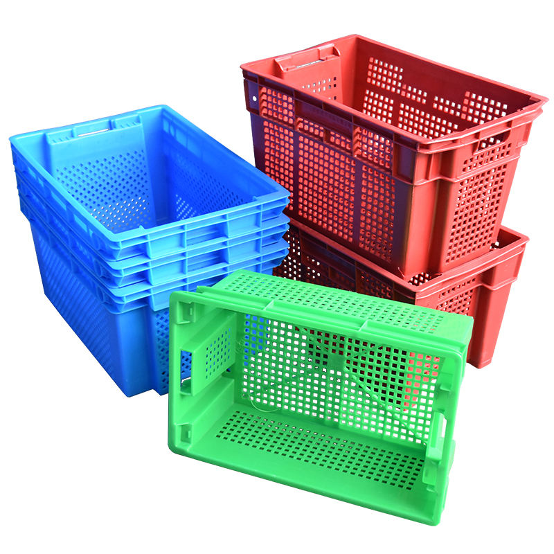 Nestable Opslag Containers Plastic Fruit Krat Voedsel Transport Container Te Koop
