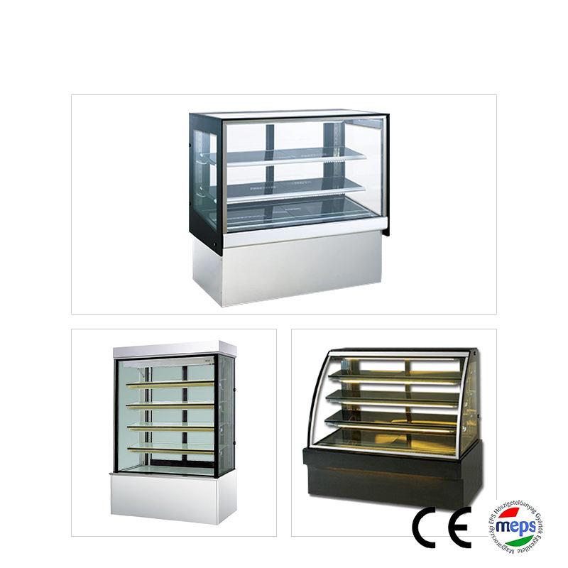Mármol base acrílico pan del Gabinete de exhibición de pastel pequeño enfriador para venta de repostería refrigerador