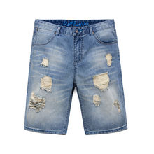 OEM male stretch denim short,men distressed denim jeans shorts