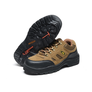 FUNTA Men Safety Shoes Breathable Hiking sports shoes or Steel Toe Work Boots