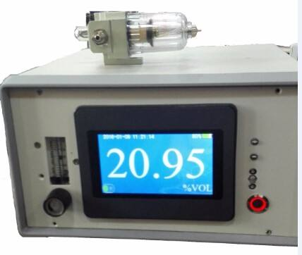 Portable oxygen purity tester
