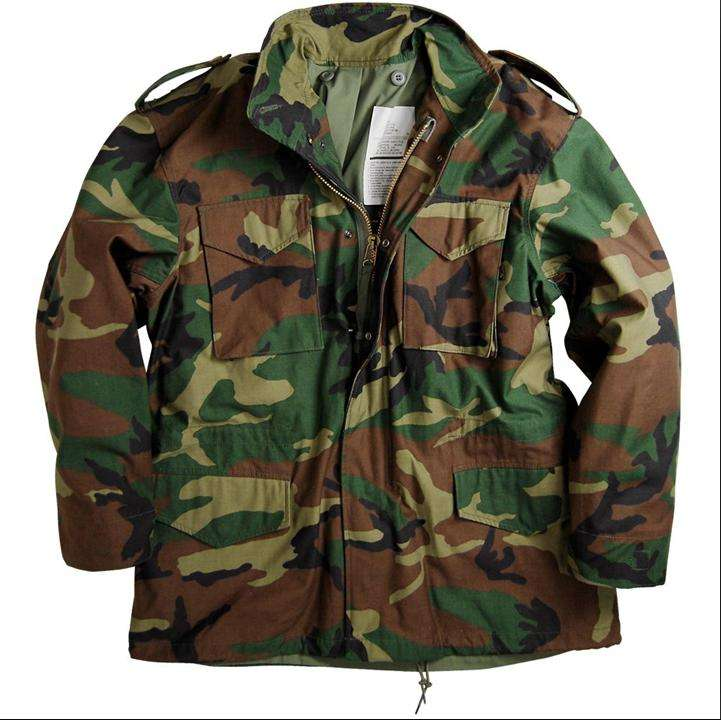 Woodland Camouflage M65 Army Jacket Water Repellent Military Uniform for Man
