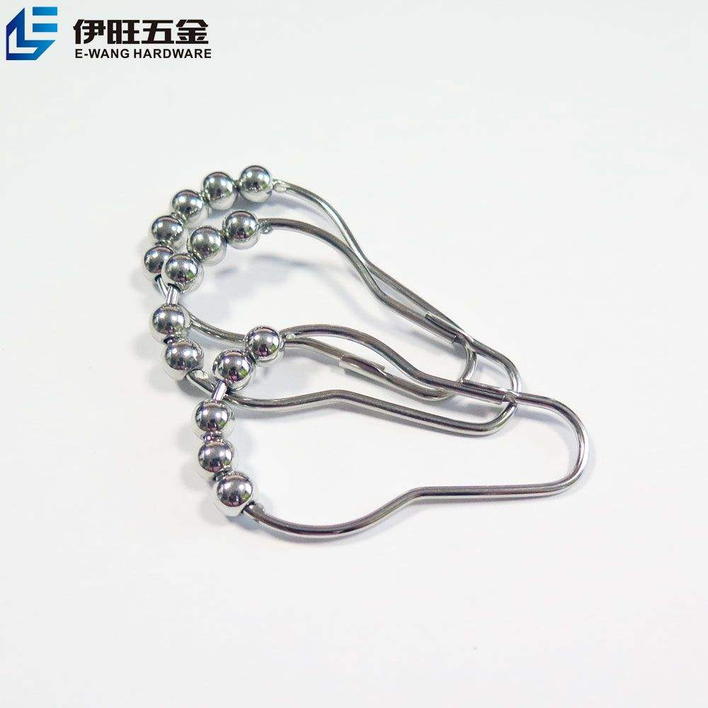 Wholesale Metal Easy to roll Shower Ring Curtain hooks