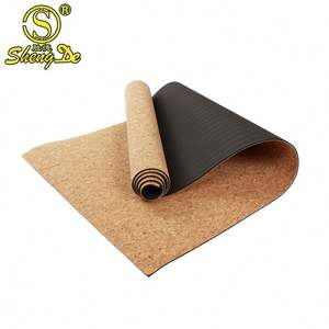 New eco friendly TPE natural cork yoga mat
