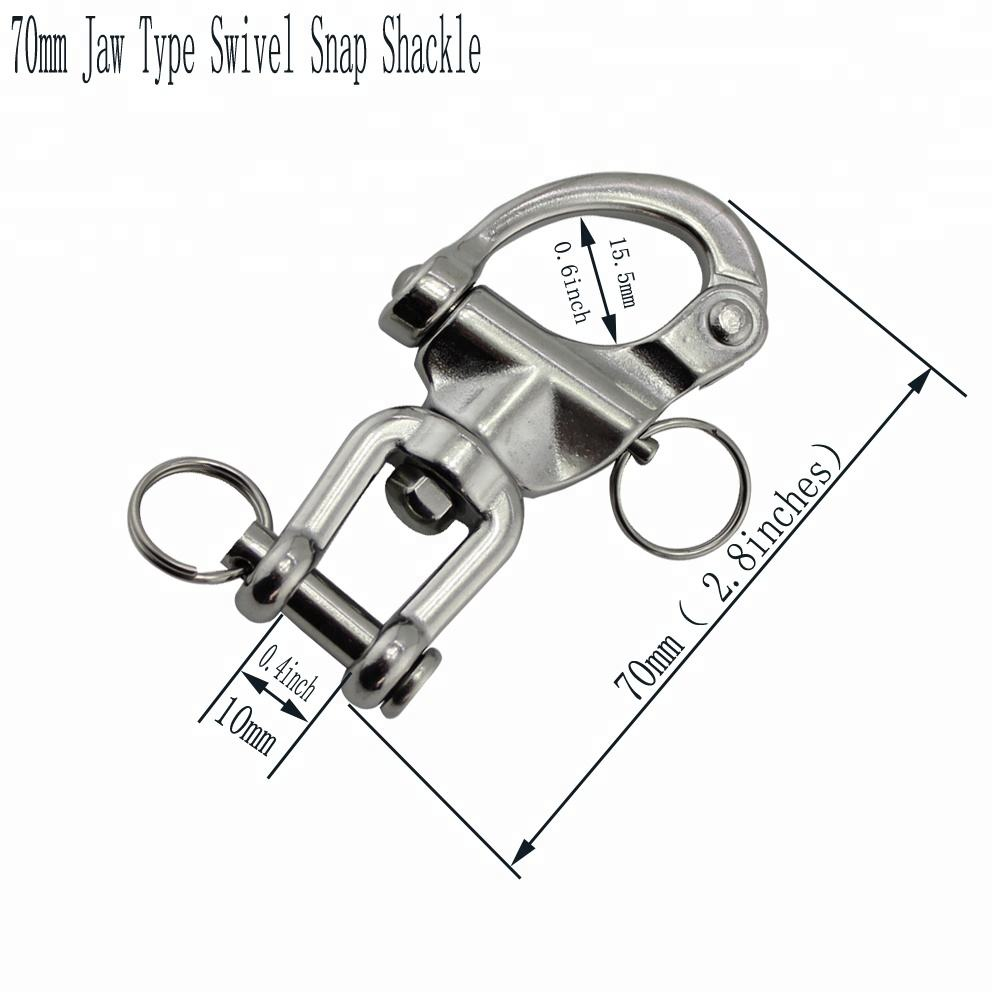 Stainless Quick Released Captive Pin Jaw Eye Swivel Snap Shackle