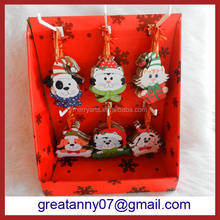 2016 Top New Promotional Gift christmas tree animal dog cat ornaments wholesale christmas decoration xmas ornament