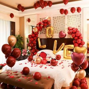 Amazon hot sale Meilun foil balloon set red wedding decoration, decoration wedding supplier