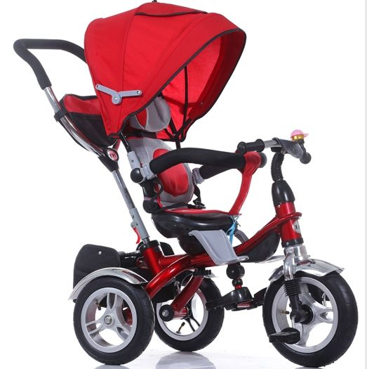 Cheap kids tricycle for children, steel frame 4 in 1 baby trike tricycle 3 wheel with canopy tricycle