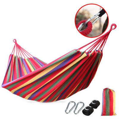 200*80cm Outdoor Colorful Striped Camping Hammock For Garden Sports Home Travel Camping Swing Thick Canvas Hanging hammock