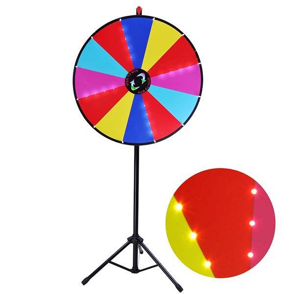 LED buy wheel of fortune for prizes lucky spin gaming