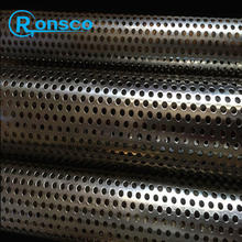 stainless steel perforated slotted round pipe tube