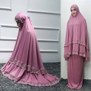 2019 fashion elegant Muslim plain color robe dress high grade comfortable fabric Ramadan essential muslim prayer skirt