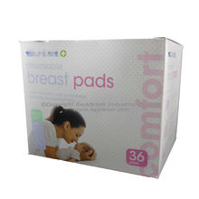 GNP408 Oem Ultra Soft White Disposable Cotton Breast Feeding Pads 3D Contoured Nursing Pads For Women