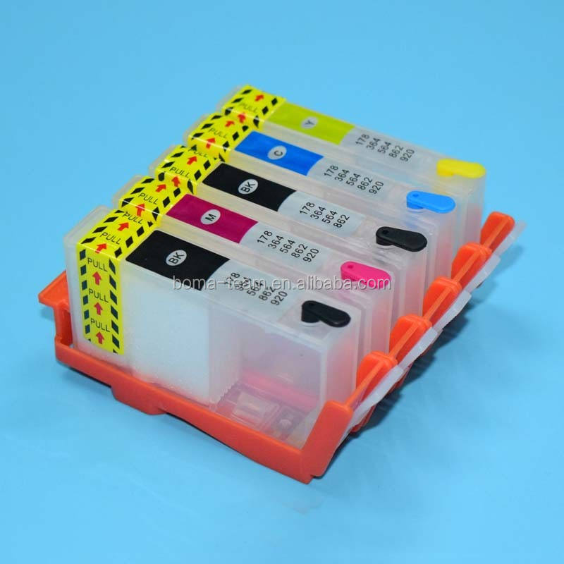 5 color refill ink cartridge for HP Photosmart 7510 B8550 C5324 C5380 C6324 C6380 D5460 C309a C309n printer for hp 364 564 178