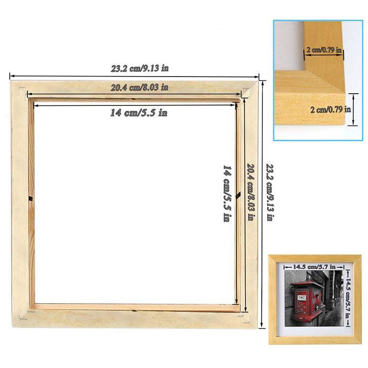 Painting American Style Deep Wooden Box Frame